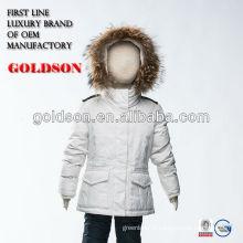 Jaqueta russa kurti jaqueta branca pura com capim de pele de raccoon grande
