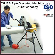Máquina de ranhura para tubos de aço inoxidável elétrica hidráulica YG12A