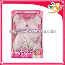 Romántico ángulo vestidos, ropa de fiesta princesa vestir para las niñas