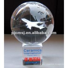 2015 Оптовая продажа индивидуальные лазерного кристалла гравировальный Глобус на карте сувениры и охраны окружающей среды награды