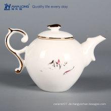 Billige Porzellan niedliche Teekanne Set Teetassen und Wasserkocher Keramik Teekessel zum Verkauf