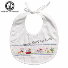 Wholesale Baby Bibs with Cute Animal Printing and Embroidery