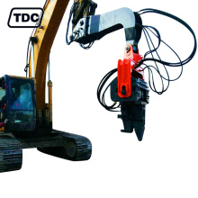 High quality vibratory drop hammer pile driver for excavator