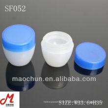 SF052 Hersteller Gesichtscreme Gläser, Creme Jar Kosmetik Verpackung, Kosmetik Gläser Creme Kunststoff