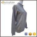 Mulher de boa qualidade, tricô, padrão, cinza, cashmere, cardigans, venda