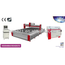 high pressure Metal/glass processing machine by water jet with 2000mm*4000mm cutting table and 420Mpa pump 4,5 axis cutting head