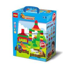 Garden School Farm Police Puzzle Toy Ladrillos para juguetes educativos
