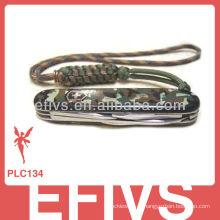 2013 Soldados Paracord cordão nó faca feita na China