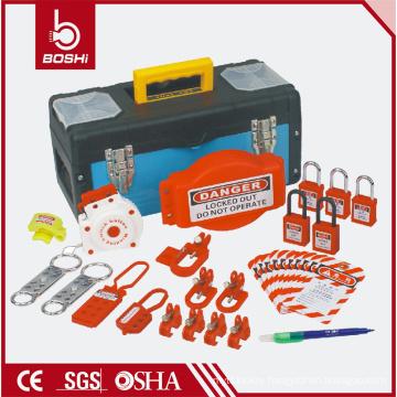 Safety lockout combination bag BD-Z14,LOTO BAG with padlock ,hasp ,breaker lockout ,plug lockout