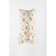 Printed Rayon T shirt with sleeveless