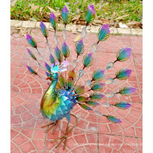 Hand Painting Lawn and Garden Ornaments Peacock Statue