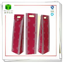 Design Customized Kraft gedruckt Weinflasche Papier Taschen