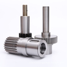 Aluminum parts cnc machining gear shaft