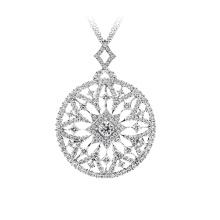 925 joyería de plata pavimentan colgante de sueño de mosaico de plata con CZ