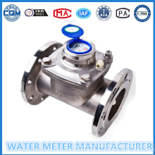 Wet Dial Edelstahl Wasserdurchflussmesser Dn100mm