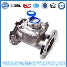 Medidor de flujo de agua de acero inoxidable con esfera húmeda Dn100mm