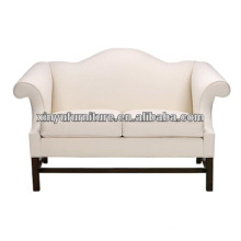 White fabric wooden living room sofa XY0877