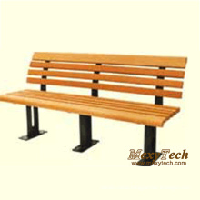 Wood Plastic Composite Outdoor Long Park Street Bench 1500X510X750mm