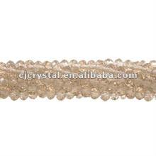 Perles en verre à cordes, usines de perles rondelles, perles de cristal de haute qualité