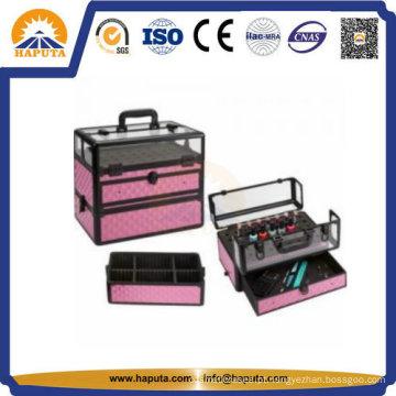Estojo de beleza portátil de acrílico para unha Hb-2301