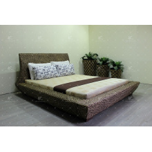 Lujo de agua natural Hyacinth Wicker Muebles Dormitorio Set