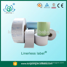 supermarket shelf price linerless label paper roll