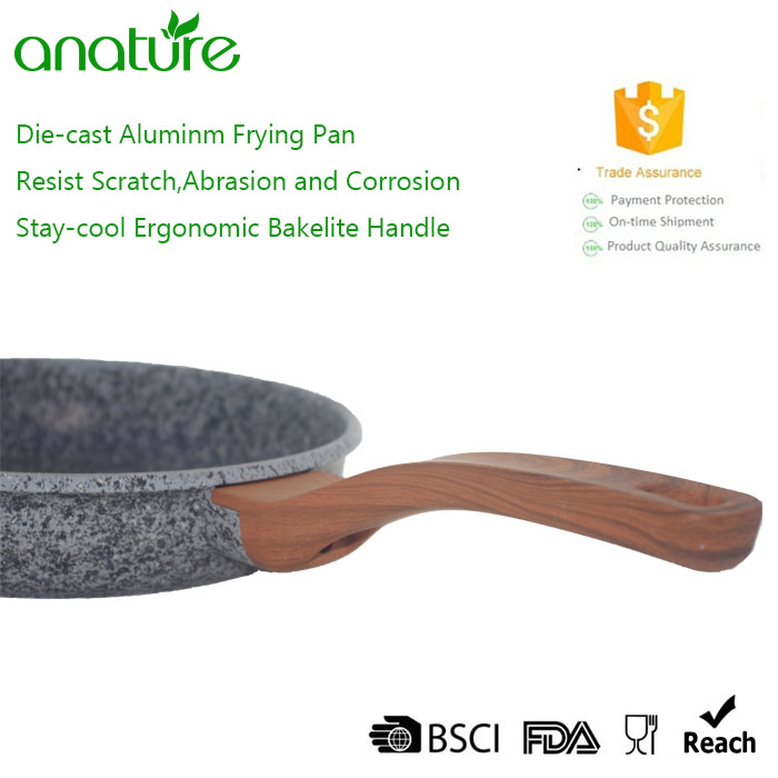 3pcs Die Cast Stone Coated Frying Pan Set