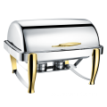 Edelstahl Stee Oblong Roll Top Chafing Dish