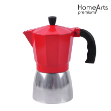 Red Aluminium Coffee Maker