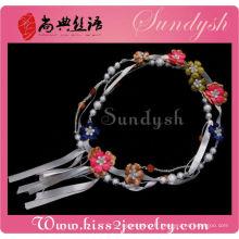 Gros tissu fleur perle bijoux accessoires ceinture à la main