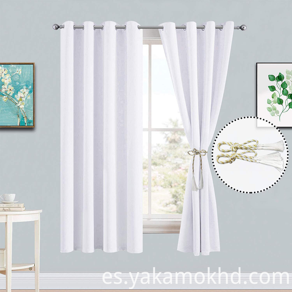 52-72 pure white curtains