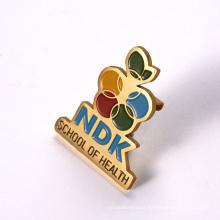 China Custom Printing Logo Metal Name Tag Badges with Magnet Back