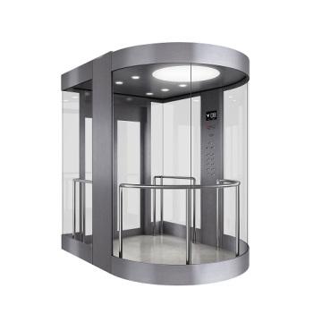 Ascenseur panoramique avec cabine en verre pour visites touristiques