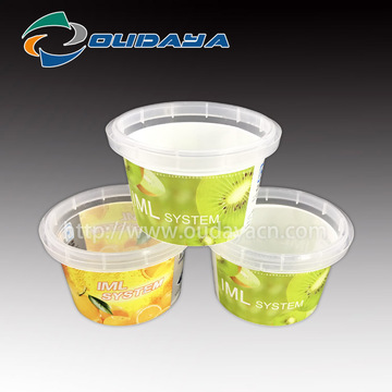 Tazza di budino allo yogurt IML Fruit in plastica PP