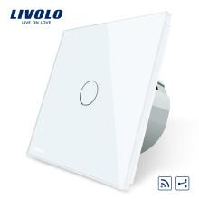 Livolo EU Standard Interrupteur à distance, 220 ~ 250V Interrupteur tactile à distance pour mur, 1 voie VL-C701SR-11/12/13/15