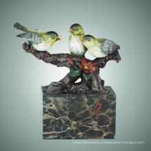 Animal Brass Bird Statue Three Birdles Bronze Sculpture, Milo Tpal-307