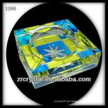 Cinzeiro de cristal colorido