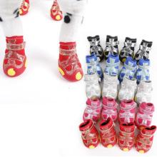 Doglemi vente chaude étanche anti-dérapant hiver neige bottes pour animaux de compagnie polyester chien chaussures chaudes