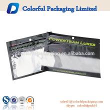 laminated customized plastic moisture proof ziplock soft fishing lure bait packaging euro hole