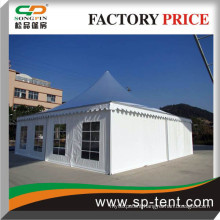 12x12m Large Wedding Tent with linings for 100 chairs and 10 round tables under the tent