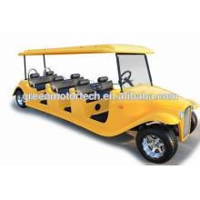 Сертификат CE Электрический классический автомобиль 8 местный гольф-кары разбитая машина для клубов, парков, отелей