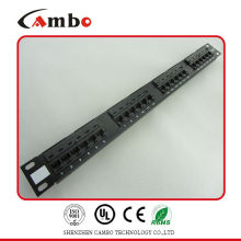 China Manufacturer UTP 19 inch rj45 patch panel cat5e patch panel Meet T568A/B Standards