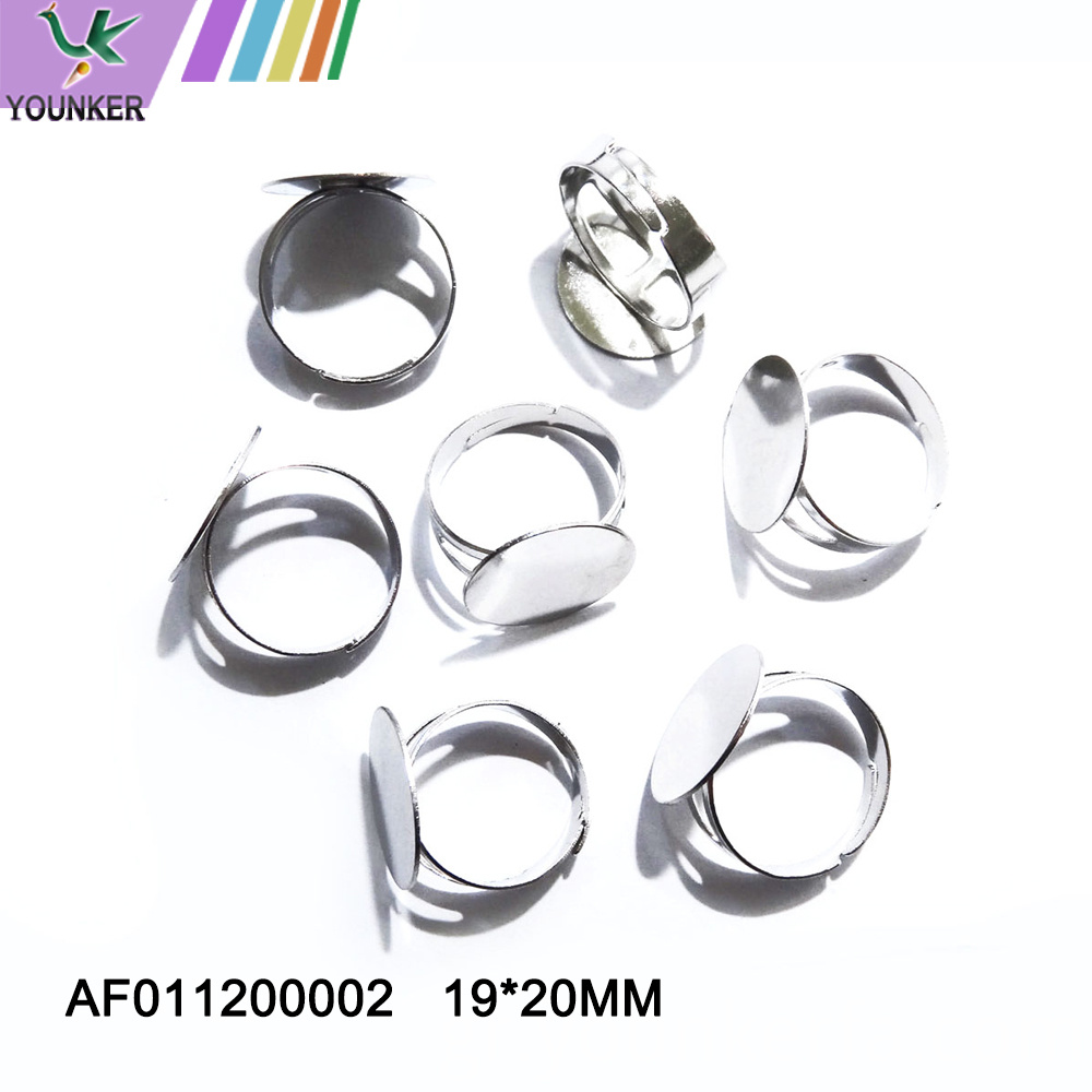 Silver Color Metal Adjustable Ring
