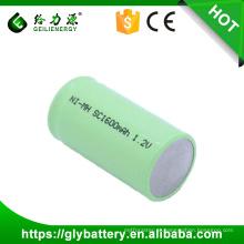 GLE-SC1600 1.2V NI-MH sub-c bateria recarregável Flat Top com abas preço de fábrica