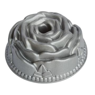 bakeware die-cast aluminum mini rose cake pan