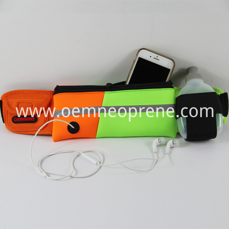 Neoprene Waist Belt With Bottle Holder