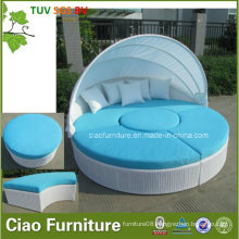 Leisure Outdoor Furniture Rattan Poolside Wicker Sunbed with Canopy (CF938L)
