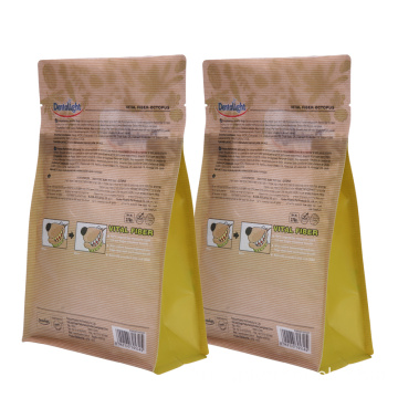Block Bottom Square Paper Packaging Dog Food Bag