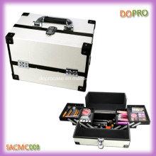 Boîte de kit de maquillage en cuir PU blanc vanité avec bon prix (SACMC008)