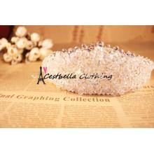 Bridal Pearl Bead Head Jewelry Acessórios para cabelo de casamento Young Lady Metal Chain Hair Clasp